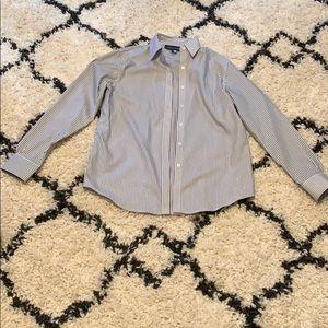 Women's pin striped button down blouse - Size S